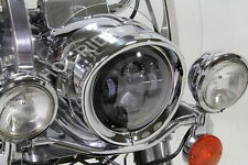 "7 "" inch visor headlight head lamp light trim beauty ring Harley touring softail"