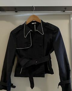 Vintage Miu Miu Cropped Trench jacket, size 2, excellent condition