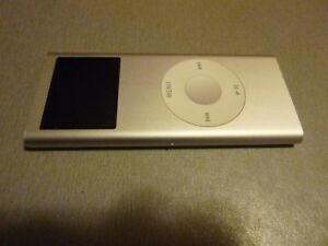 Used Apple iPod Nano 2nd Generation 2 GB, Silver, no charger, Works great, A1199