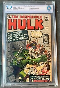 Incredible Hulk #5 CBCS 7.0 1ST APPEARANCE OF TYRANNUS & GENERAL FANG