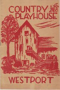 "Thornton Wilder in ""The Skin Of Our Teeth"" - 1948 Westport Ct. Theatre Program"