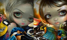 Jasmine Becket-Griffith fairy art SIGNED Birdsong 1 and 2 set of 2 art prints