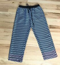 Zara Silk Trousers Ankle Blue Red Print Extra Small XS