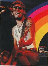 Bruce springsteen autógrafo signed a4 Revista Imagen