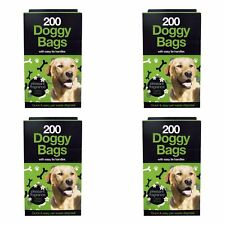 Dog Poo Bags Scented Large Double Thick Puppy Poop Tie Handles Doggy Waste Bags