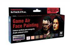 AV Acrylics 72865 Game Air Set  Face Painting Male & Female 8 x 17ml