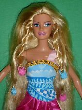 Pretty Barbie Doll with Outfit ~ Long Blonde Hair with Beads