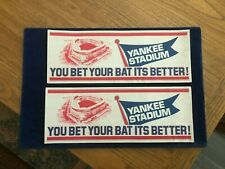 Vintage - Lot of 2 Bumper Stickers - New Yankee Stadium Opening Day - 1976
