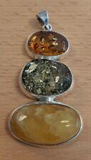Bernstein Anhänger 925 Silber Amber, Butterscotch, Designerstück, Top Zustand