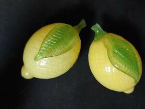 VINTAGE Murano Glass LEMONS fruit Hand Blown glass