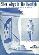 Sgt. Gene Autry sheet music Silver Wings In The Moonlight 1942 WWII