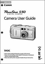 Canon Powershot S50 Digital Camera User Guide Instruction  Manual
