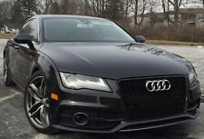2012 2013 2014 2015 SUPER RARE AUDi A7 MESH SPORT Grill Grille RS7 Look BLACK