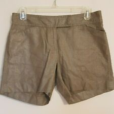 ANN TAYLOR Signature women's Shorts - Toupe color with Sheen S -2