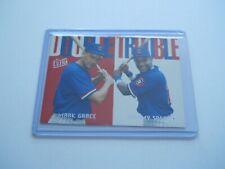 1997 Fleer Ultra Double Trouble  Sammy Sosa/Mark Grace