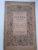 Catálogo N º 65 Libros Antiguos Y Moderno A. Desombes París 1930