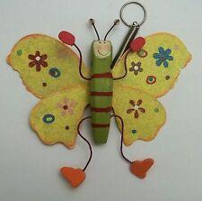 magnifique papillon sur ressort,décoration intérieure, enfant G-T5 jaune