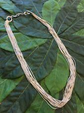 "Coldwater Creek Vermeil liquid silver 14 strand 20"" long Necklace"