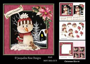 Christmas Kits 05 Decoupage 3 x A4 Sheet NOT DIE-CUT