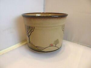 Denby Stoneware Hand Crafted Plant Pot Holder 'Savoy'