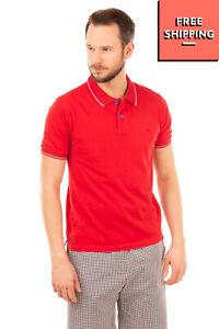 DOMENICO TAGLIENTE Polo Shirt Size XL Side Split Short Sleeve Regular Collar