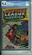JUSTICE LEAGUE OF AMERICA 68 CGC 9.2 CIRCLE 8 NEW NON-CIRCULATED CASE DC 1968