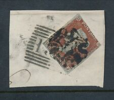 PENNY RED IMPERF SCOTTISH NUMERAL + MALTESE CROSS BOTH CANCELLING STAMP Pl.35 OJ