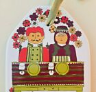 Folk Art Folklore Wall Plaque Ceramic Husband Wife Prayers Colorful Made Norway