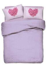 PARURE HOUSSE DE COUETTE 1 1/2 PETIT LIT DOUBLE CŒUR PAR ROSE ROSE imprimés