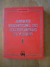 Annuaire des collectionneurs de voitures 1, 1985-1986.