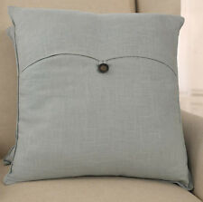 100% Linen Decorator Cushion Covers - Square or Lumbar. BRAND NEW. Light Blue