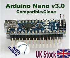 Arduino Nano V3.0  Compatible – Clone ATmega328 Mini USB Board + USB Cable – UK