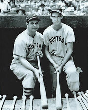 JIMMIE FOXX and TED WILLIAMS - 8x10 Glossy PHOTO- BOSTON RED SOX