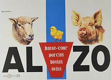 Affiche originale années 60 - ALZO - Par E gaillard