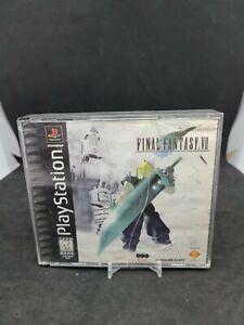 Final Fantasy VII 7 PS1 PlayStation 1 Complete Black Label Case And Manual