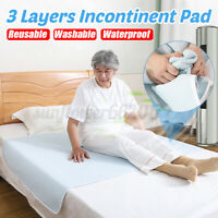 Washable Reusable Waterproof Underpad Bed Pad Incontinence Mattress Protector AU