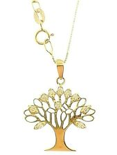 Collana Albero della Vita Donna Oro Giallo Bianco 18 Kt Carati 750 2,10 Gr