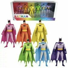 Batman Rainbow 6-Pack Action Figure Set By DC Collectibles(FREE SHIPPING)