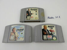 3 Madden Games '99 ; 2000 ; Madden 64 Nintendo N64 Games TESTED (LOT A)