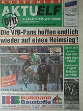 Programm 2000/01 VfB Lübeck - Fortuna Düsseldorf