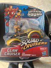 Marvel Super Hero Squad Cruisers CLAW CRUISER w/ WOLVERINE X-Men Car New