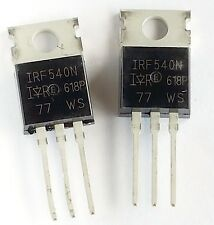 2 pieces, IRF 540N  N-Channel MOSFET, 33A 100V  TO-220F– ref:519