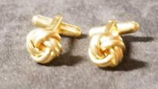 Knot Cuff Links Vintage Small Gold