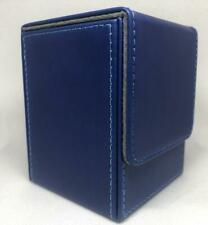 STBlue01 Leatherette Flip Deck Case Blue 100+ Game Card Storage Box mtg