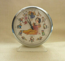 SNOW WHITE ALARM CLOCK  BAYARD MADE IN FRANCE ANIMATED DIAL WORKING
