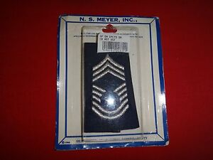 Pair US Air Force CHIEF MASTER SERGEANT Rank E-9 Small Epaulets, By NS MEYER Inc
