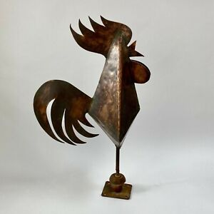 Vintage copper French Coq De Clocher Cockerel weathervane weather vane girouette