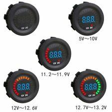 Car Motorcycle Mini LED Digital Voltmeter Voltage Meter Guage Volt Tester 12V MU