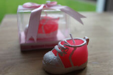 2 X ROSA Shoe Boot CANDELE-battesimo partito / Baby Shower Baby Girl Regalo