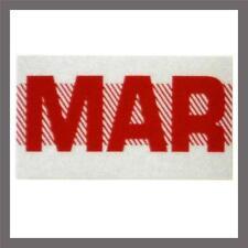 March Month California DMV License Plate Red Registration Sticker Tag YOM CA